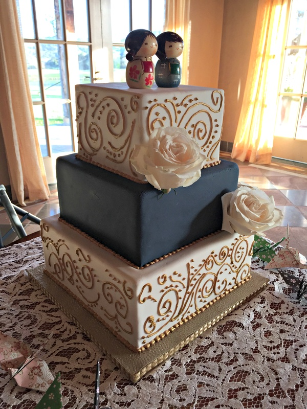 baby blue and gold wedding cake square navy and gold wedding cake 10991
