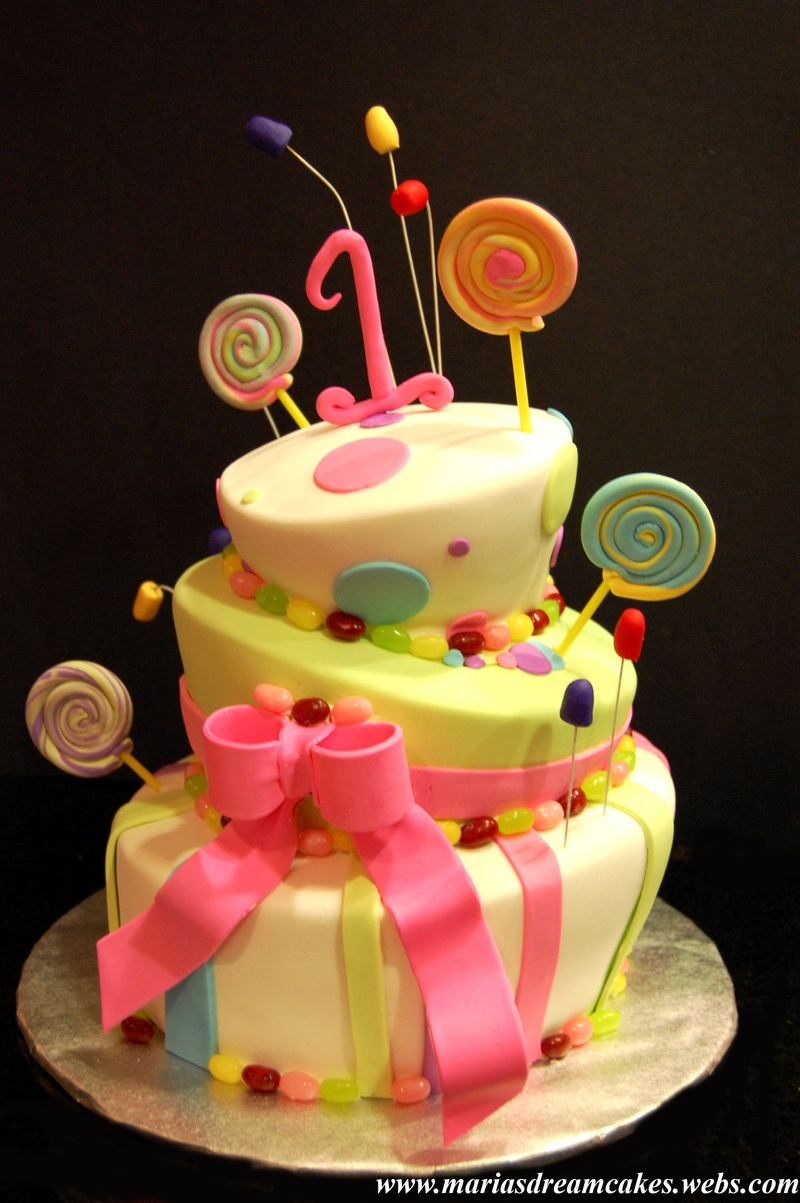 Cake Theme For Birthday : Topsy turvy Candyland themed birthday Cake - Maria s Dream ...