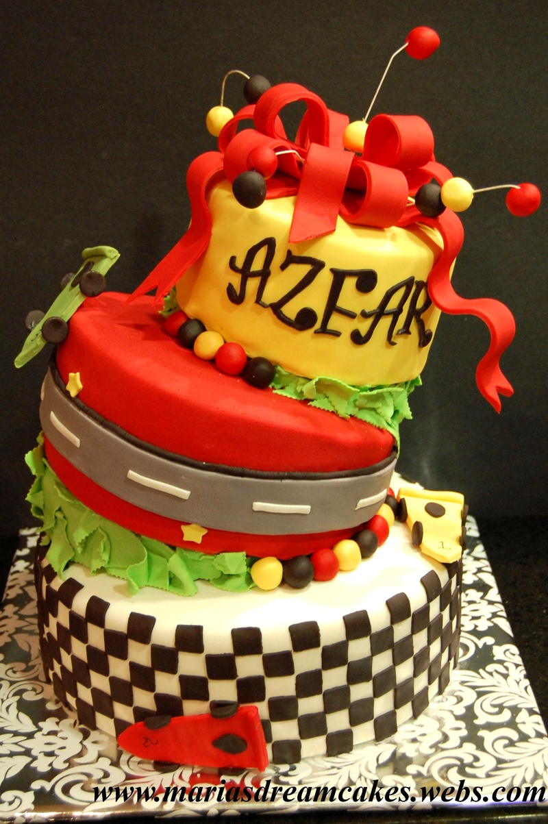 Topsy Turvy Car Cake
