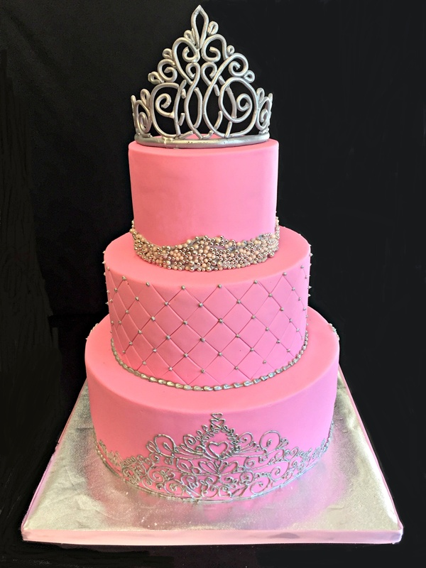 Princess themed quinceanera cake
