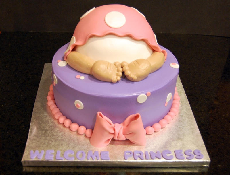 Baby butt baby shower cake