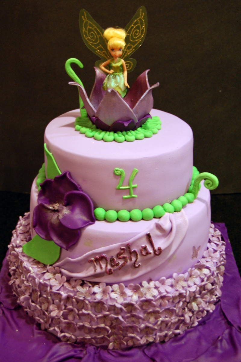 Tinkerbell themed birthday Cake