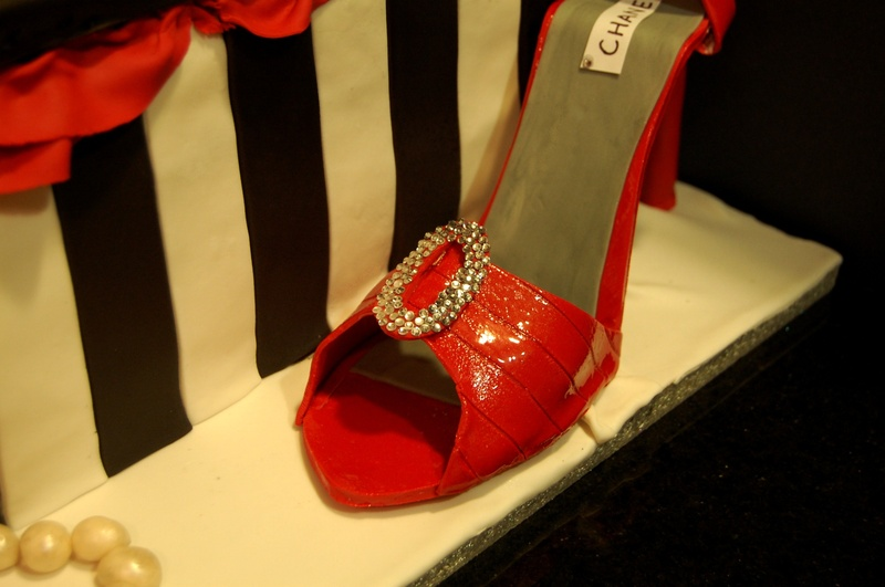 Close up of the shoe