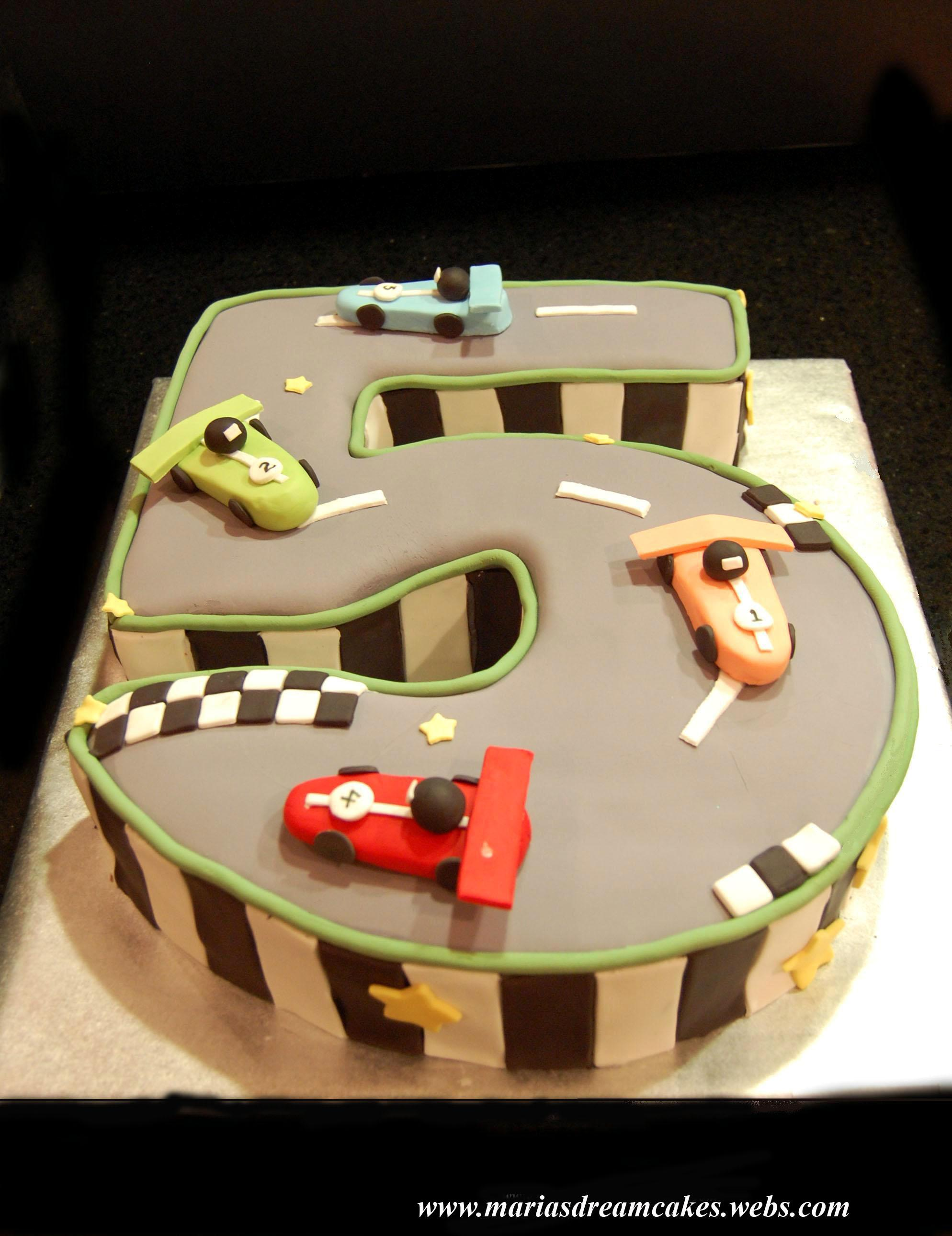 Cars themed Birthday Cake