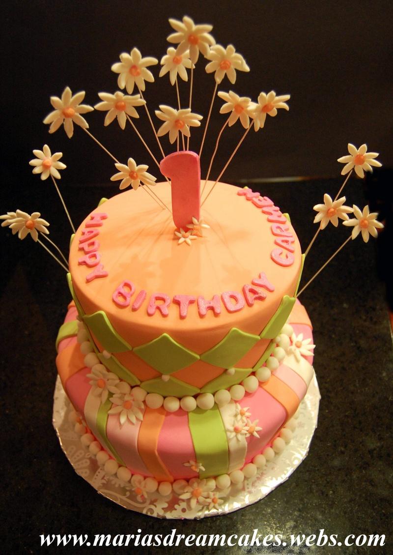 Whimsical 1st bday Cake