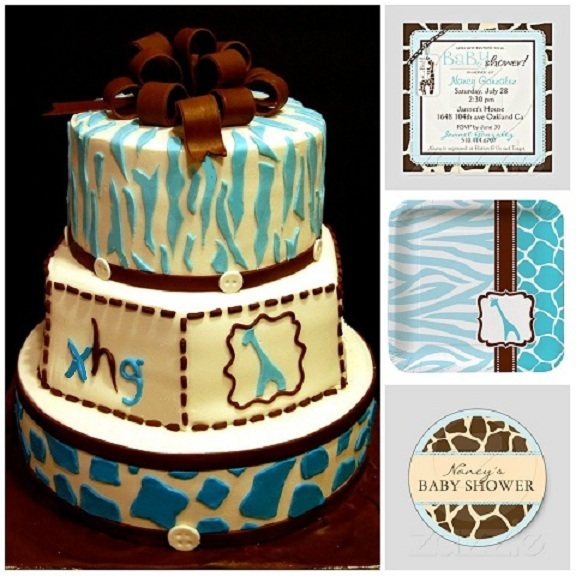 Giraffe baby shower Cake - Maria's Dream Cakes