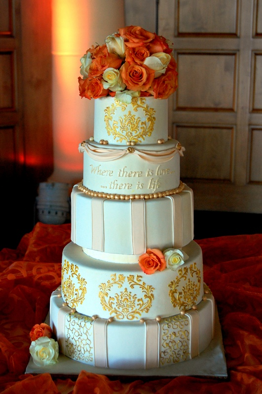 bridge over troubled water wedding cake ivory and gold wedding cake s cakes 12144
