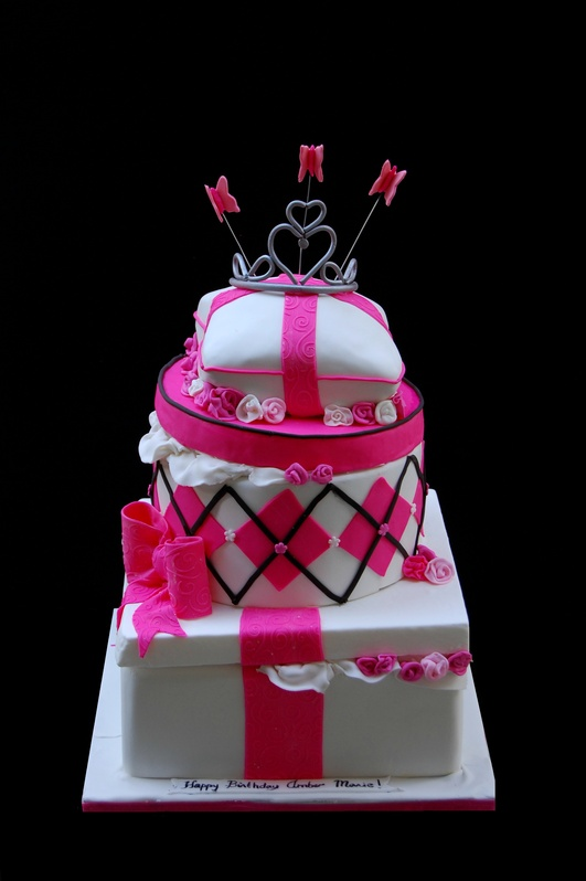 Topsy Turvy giftboxes Cake