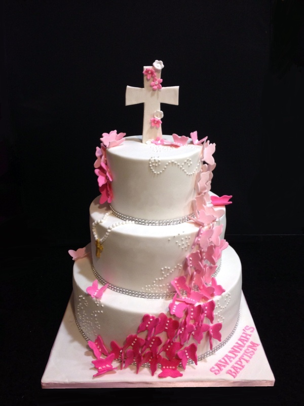 A butterfly themed Baptism