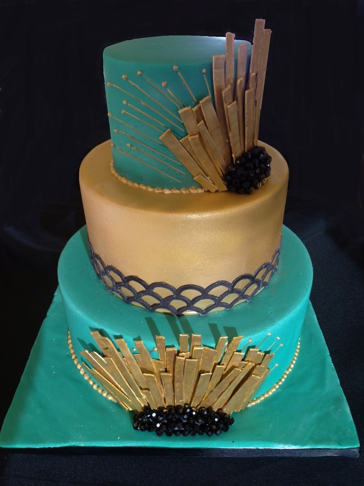 Great Gatsby theme Wedding cake