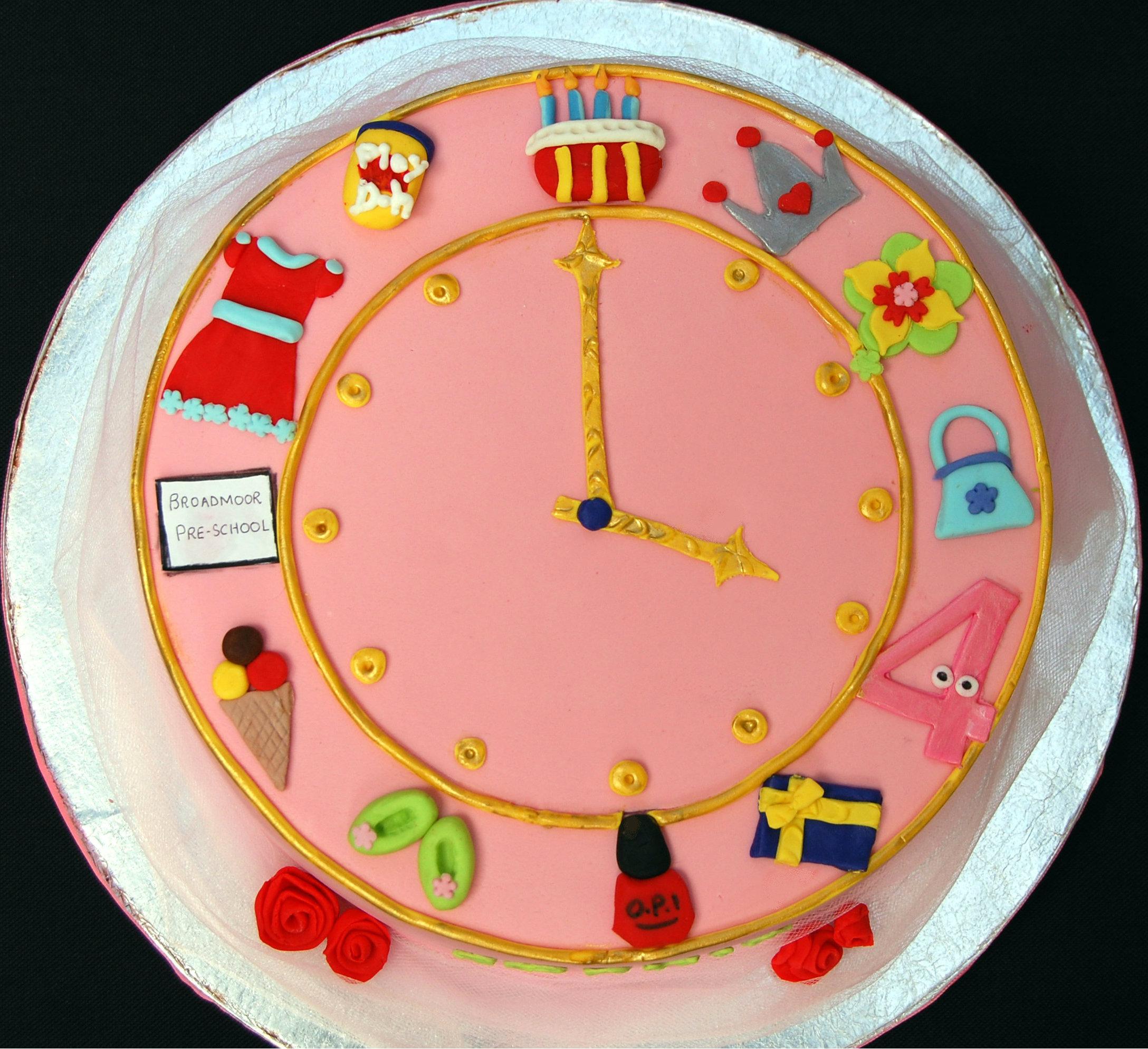 Birthday Cakes Clock