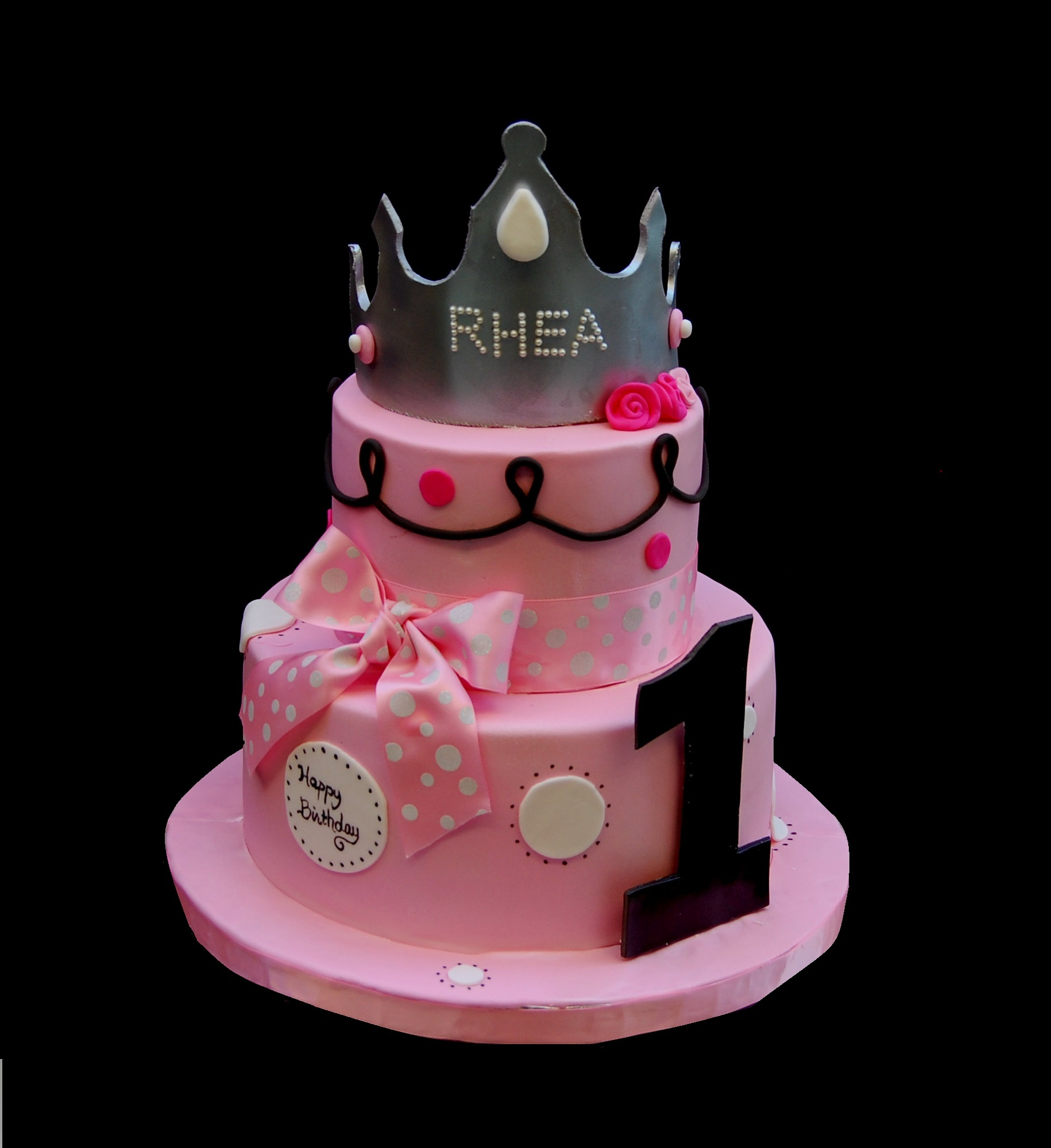 A small birthday cake for a one year old princess Marias Dream