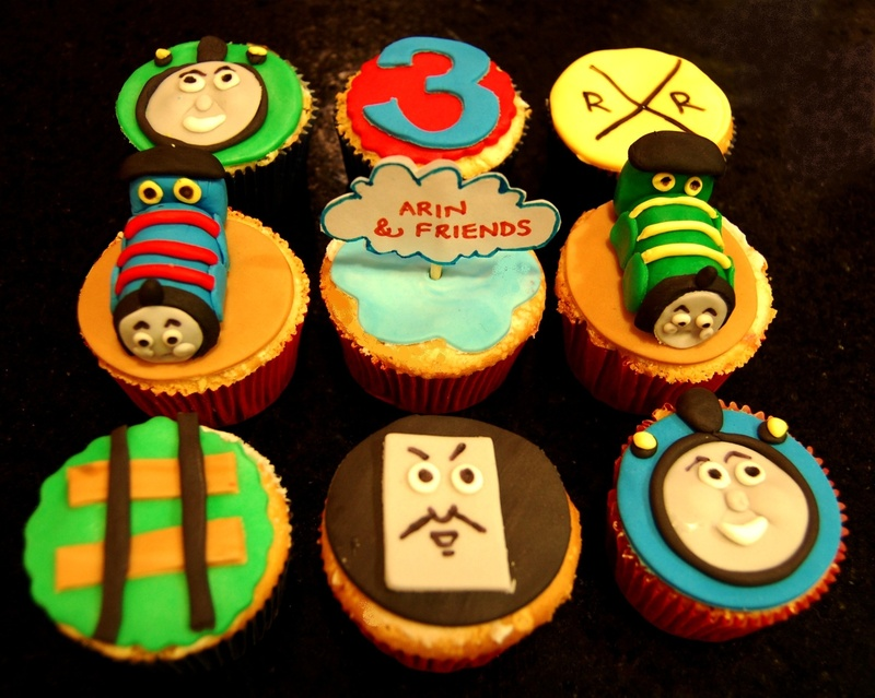Thomas cupcakes- a close-up